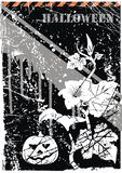 grunge διάνυσμα καρτών αποκριών ελεύθερη απεικόνιση δικαιώματος