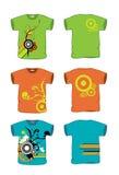 grunge διανυσματικό πλάτος πουκάμισων τ Στοκ Εικόνα
