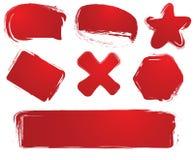 grunge ετικέτες ελεύθερη απεικόνιση δικαιώματος