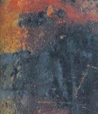 Grunge και οξυδωμένο φύλλο μετάλλων ως υπόβαθρο Στοκ Φωτογραφίες