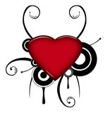 grunge καρδιά Στοκ Εικόνα