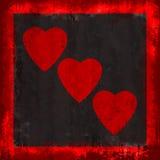 grunge καρδιές Στοκ Φωτογραφίες