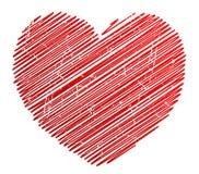grunge καρδιά Στοκ εικόνες με δικαίωμα ελεύθερης χρήσης