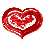 grunge καρδιά Στοκ φωτογραφία με δικαίωμα ελεύθερης χρήσης