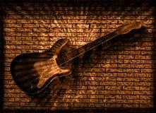 grunge κιθάρα Στοκ Φωτογραφία