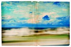 grunge κινούμενη scape θάλασσα Στοκ εικόνες με δικαίωμα ελεύθερης χρήσης