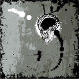 grunge κρανίο Στοκ εικόνα με δικαίωμα ελεύθερης χρήσης