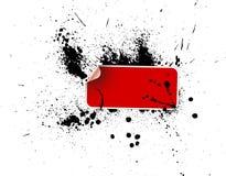grunge κόκκινη αυτοκόλλητη ετ& Στοκ φωτογραφίες με δικαίωμα ελεύθερης χρήσης