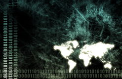 grunge κόσμος τεχνολογίας πληροφοριών Στοκ φωτογραφία με δικαίωμα ελεύθερης χρήσης