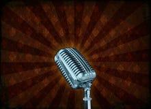 grunge μικρόφωνο Στοκ Εικόνες
