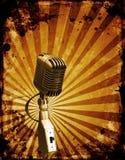 grunge μικρόφωνο Στοκ Φωτογραφία