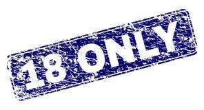 Grunge 18 ΜΟΝΟ πλαισιωμένο στρογγυλευμένο γραμματόσημο ορθογωνίων Ελεύθερη απεικόνιση δικαιώματος