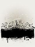 grunge μουσική Στοκ Εικόνα