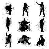 grunge μουσική Στοκ Εικόνες