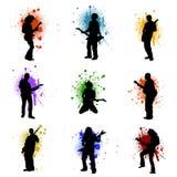 grunge μουσική Στοκ Φωτογραφία