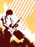 grunge μουσικός Στοκ Εικόνες