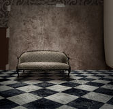 grunge μυστικό δωματίων μυστηρί&omi Στοκ Φωτογραφίες