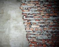 grunge νέος παλαιός τοίχος Στοκ Φωτογραφία