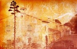 grunge οδός σπιτιών Στοκ Φωτογραφία