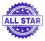 Grunge ΟΛΗ η σφραγίδα γραμματοσήμων του STAR ελεύθερη απεικόνιση δικαιώματος