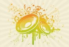 grunge ομιλητής συμβαλλόμενων μερών διανυσματική απεικόνιση