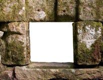 grunge παράθυρο πετρών στοκ φωτογραφία