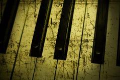 grunge πιάνο στοκ εικόνα με δικαίωμα ελεύθερης χρήσης