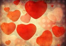 grunge πρότυπο καρδιών Στοκ εικόνες με δικαίωμα ελεύθερης χρήσης