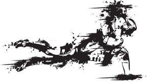 grunge ρουμπίνι απεικόνιση αποθεμάτων