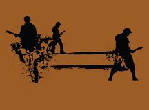 grunge ρόλος βράχου ν απεικόνιση αποθεμάτων