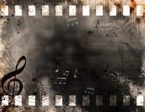 grunge σημειώσεις μουσικής Στοκ Εικόνες