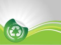 grunge σύμβολο ανακύκλωσης Στοκ Φωτογραφία