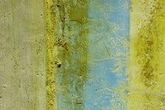 grunge τοίχος αποφλοίωσης χρ&ome Στοκ φωτογραφίες με δικαίωμα ελεύθερης χρήσης