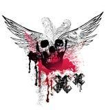 grunge φτερά κρανίων Στοκ Εικόνα