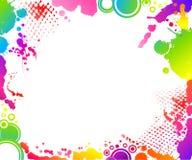 grunge абстрактного знамени флористическое Стоковые Фото