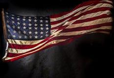 grunge американского флага Стоковое фото RF
