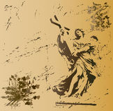 grunge ангела Иллюстрация вектора