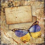grunge бабочки предпосылки текстурировало Стоковое Изображение RF