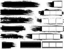 Grunge воодушевил прокладки и элементы фильма Стоковое фото RF