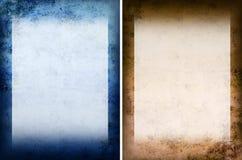 grunge голубого коричневого цвета предпосылки Стоковые Изображения