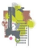 grunge города предпосылки Стоковое Изображение RF
