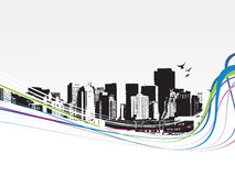 grunge города предпосылки большое ввело урбанский вектор в моду Стоковые Фотографии RF
