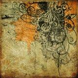 grunge графика предпосылки искусства Стоковые Изображения
