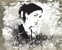 grunge девушки иллюстрация вектора