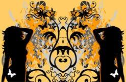 grunge женщин бабочки сексуальное Бесплатная Иллюстрация