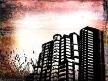grunge здания бесплатная иллюстрация