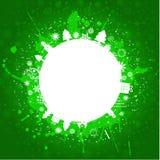 grunge зеленого цвета рождества предпосылки Стоковые Фотографии RF