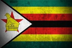 grunge Зимбабве флага Стоковая Фотография