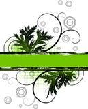 grunge знамени флористическое Стоковое Изображение
