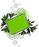 grunge знамени флористическое Стоковое Фото